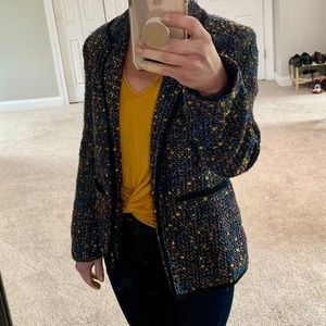 Susan Graver Style Black Multi Colored Blazer